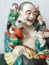 Смеющийся Будда с детьми, Хотэй, 1 пол.ХХ-го века, фото 2
