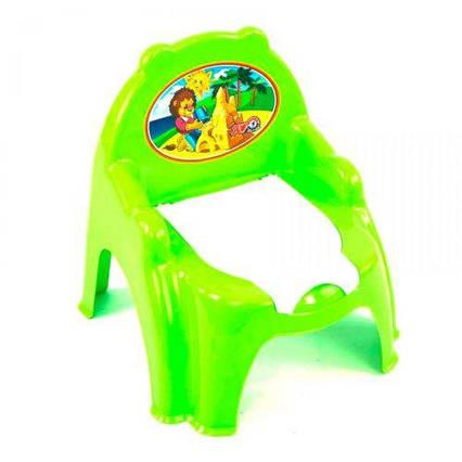 Горшок детский с крышкой зеленый 4074