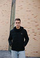 Чоловіча демісезонна куртка чорна оптом 20-06, фото 1