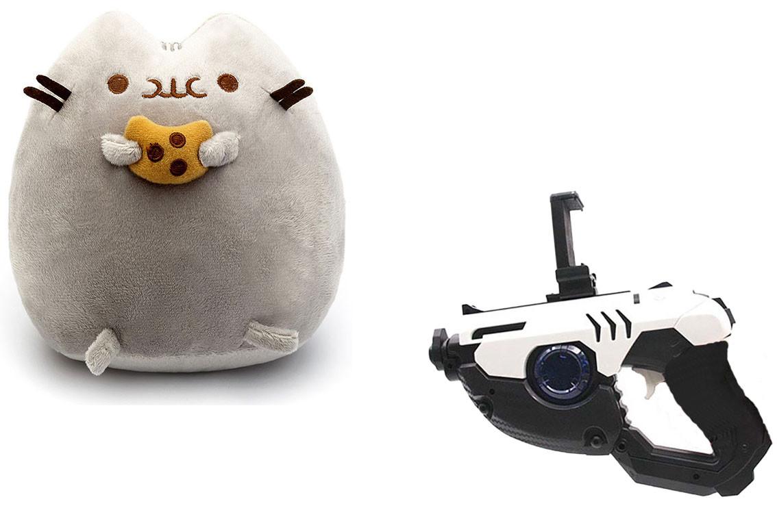 Мягкая игрушка кот с печеньем Pusheen cat + Подарок (n-671)