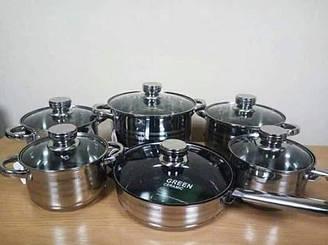 Набор посуды Swiss Haus из нержавеющей стали.