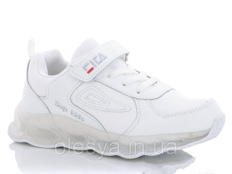 Кроссовки детские белые для девочек тм W.Niko BY997-1 Размеры 31 32 33 34
