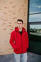 Демісезонна мужска куртка червона оптом 1902