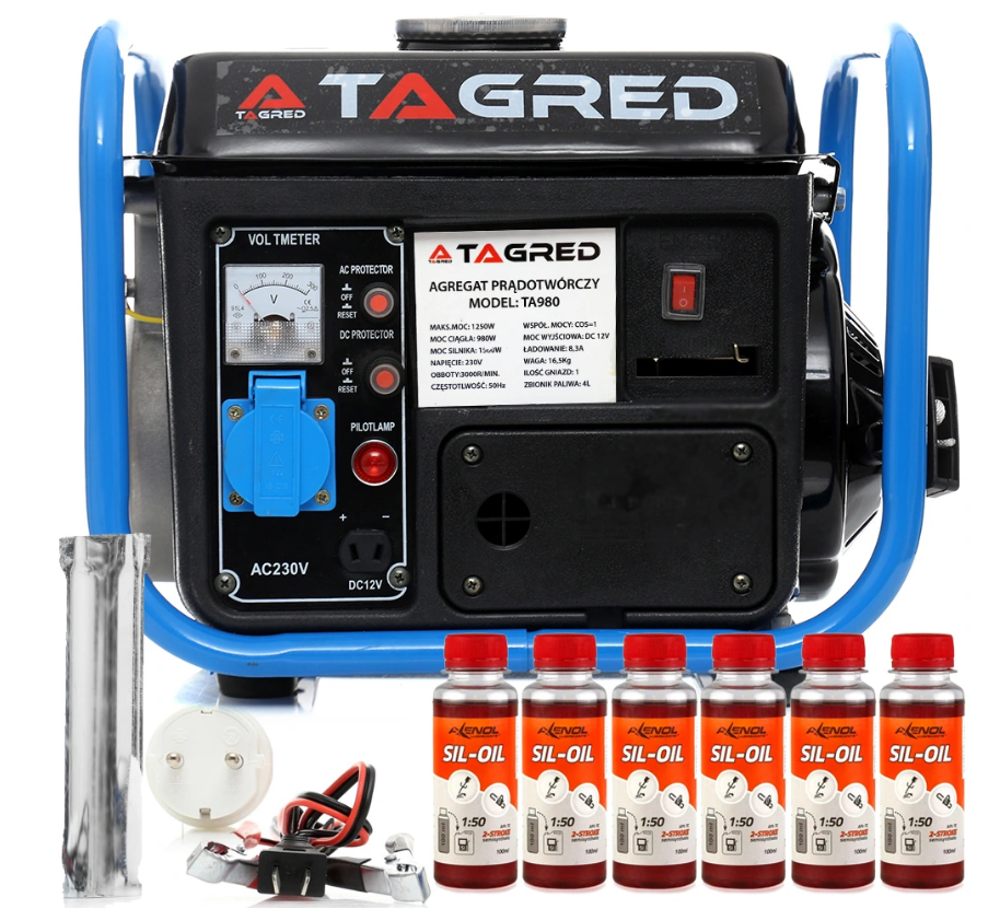 Бензиновый генератор TAGRED 1550W 2,1KM