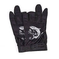 Протиковзкі рукавички для риболовлі (чорні).