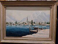 Картина Озеро в горах W.Winkens 1933 год