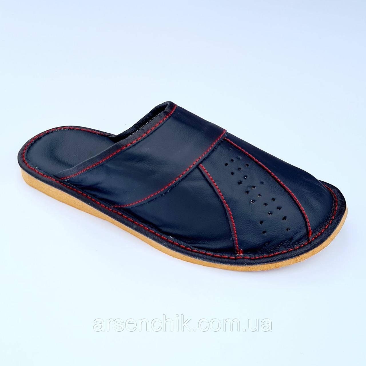 """Домашние кожаные тапочки мужские """"Polmar"""" 42"""