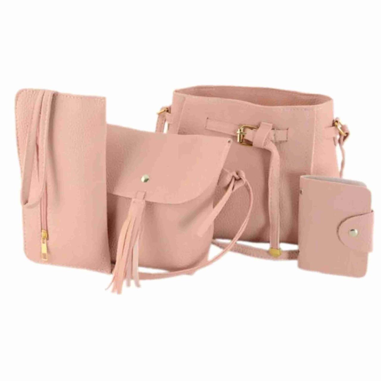Женская сумка / Женская сумка LADY BAG 2B   Женская сумка LADY BAG 2B Пудровая   Комлект женских сумок 4 в 1