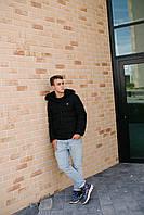 Чоловіча демісезонна куртка чорна 9803, фото 1