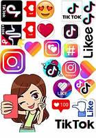 """Вафельная картинка """"Инстаграм. Ютуб , ТикТок, Фейсбук -5"""""""