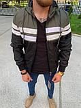 Мужская куртка ветровка Zago Black M453 хаки-черная, фото 2