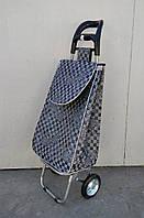 Хозяйственная сумка из плотной ткани - тележка с железными колесами и цельнометаллическим каркасом., фото 1