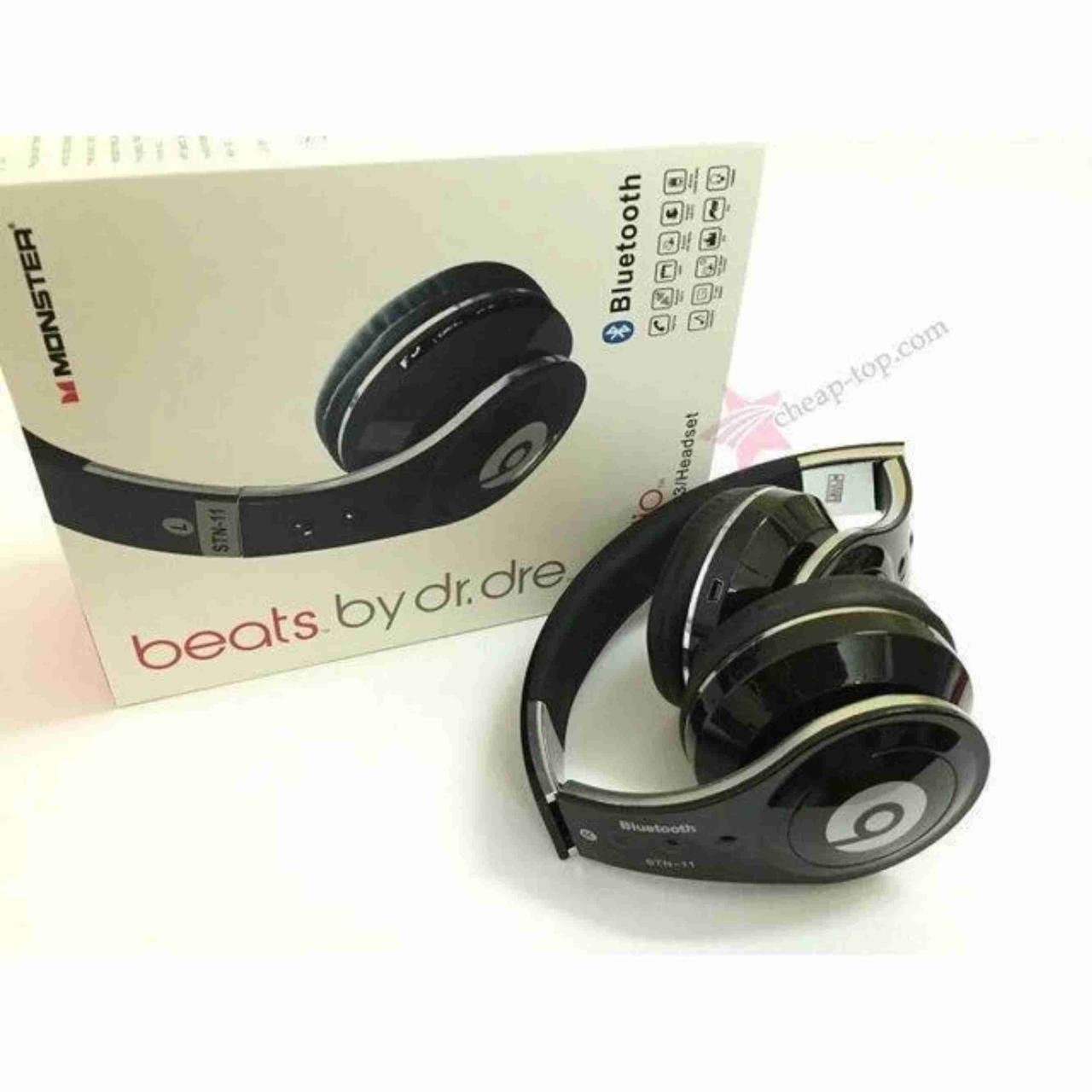 Беспроводные блютуз наушники Monster Beats от аккумулятора, Наушники Monster Beаts Bluetooth STN-11