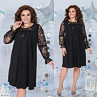 Нарядное вечернее трикотажное платье с напылением Размер: 52-54, 56-58, 58-60 арт 3122