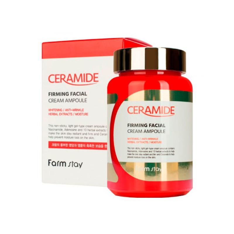 Укрепляющая ампульная крем-сыворотка с керамидами Farmstay Ceramide Firming Facial Cream Ampoule 250 мл