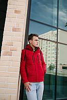 Чоловіча демісезонна куртка червона 19052, фото 1