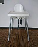 Стільчик для годування, стілець для годування ANTILOP IKEA, 290.672.93, фото 2