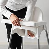 Стільчик для годування, стілець для годування ANTILOP IKEA, 290.672.93, фото 4