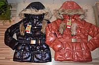 Куртка на синтепоне и меховой подкладке для девочек 134/140-170 см, фото 1