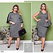 Платье двойка деловой стиль итальянский трикотаж 50-52,54-56, фото 5