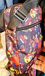 Текстильные сумки, барсетки на плечо с мультяшным принтом 18*22 см, фото 2