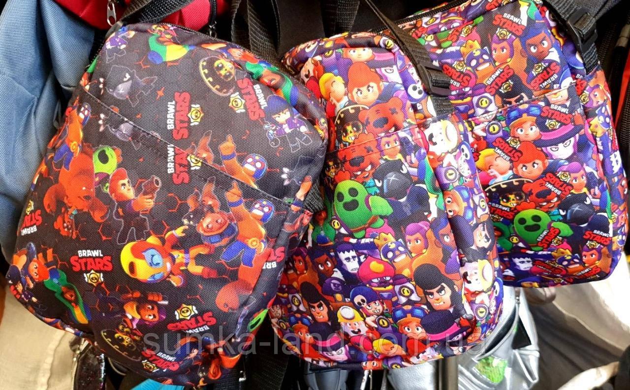 Текстильные сумки, барсетки на плечо с мультяшным принтом 18*22 см