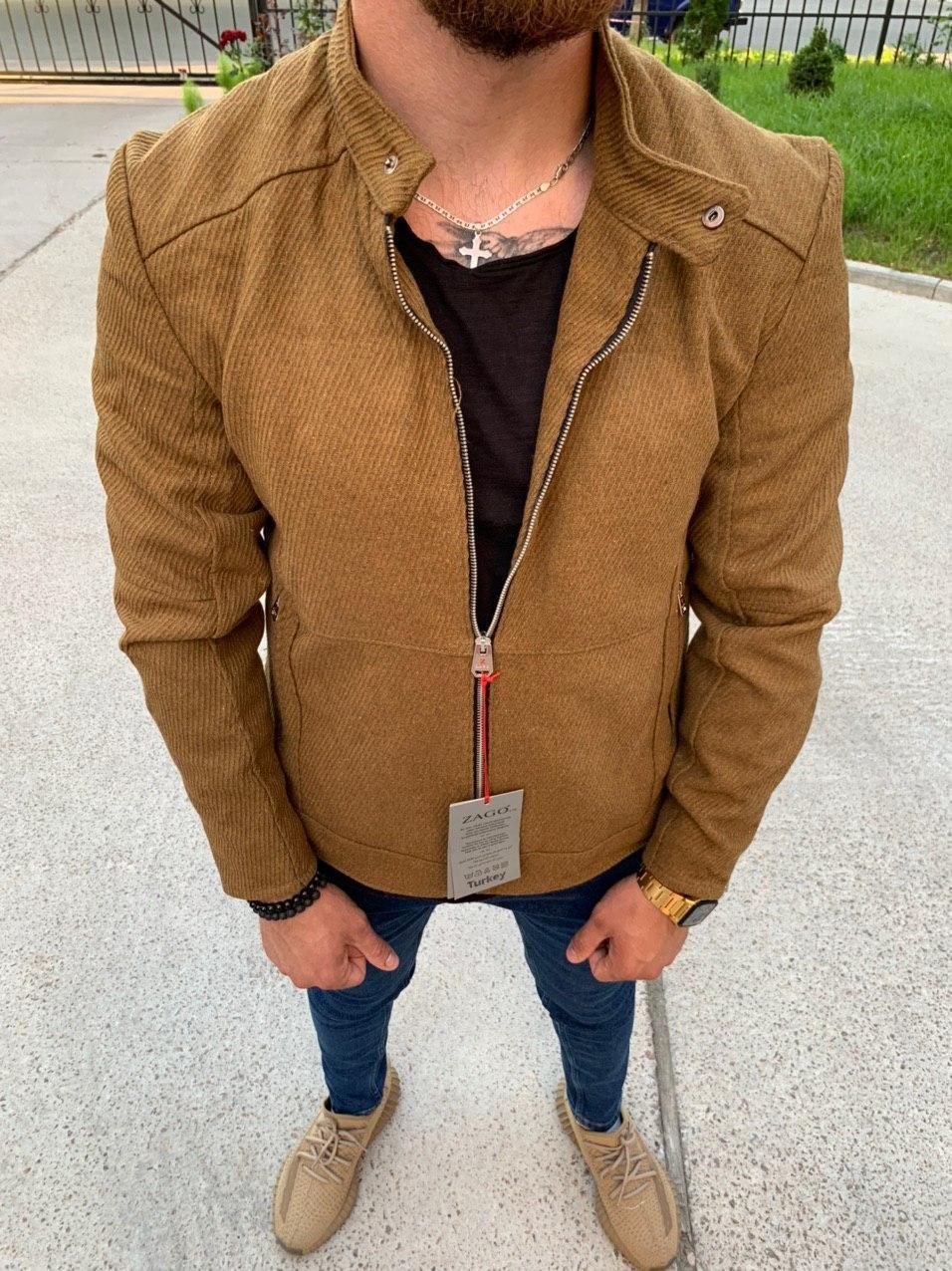 Мужская куртка M460 горчичная