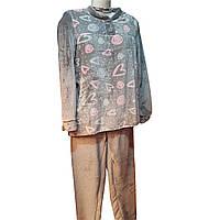 Піжама махрова жіноча однотонна