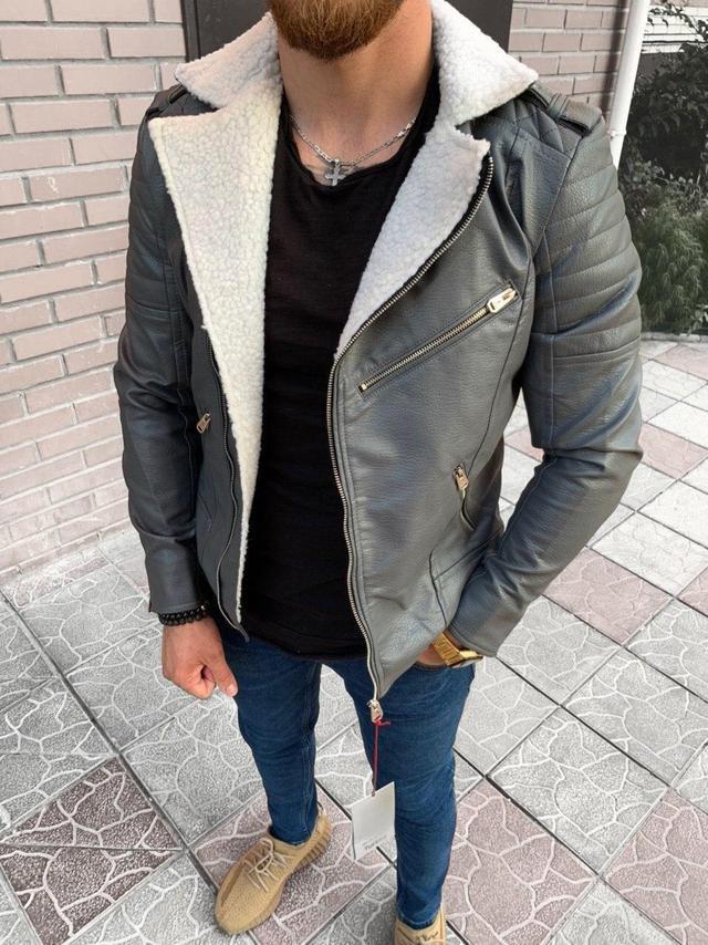 Мужская кожаная куртка косуха