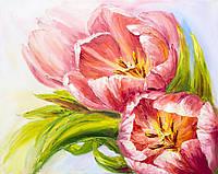 Фотоштора Розовые тюльпаны 142х270 2шт (18922l_1_1)