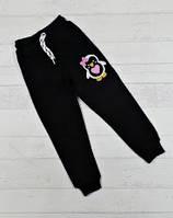 Спортивні штани для дівчаток чорні на вік 5,6,7,8 років
