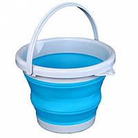 Складное силиконовое ведро 5л Collapsible Bucket, фото 1