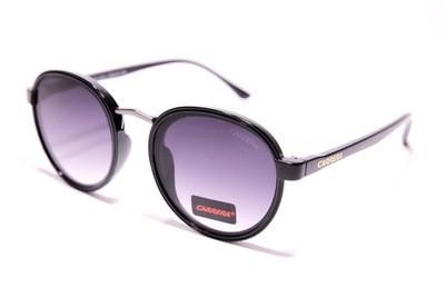 Солнцезащитные круглые очки, пластик и металл, с серо-фиолетовыми градиентными линзами, унисекс