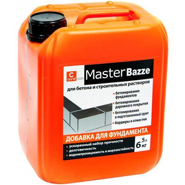 Добавка для фундамента Coral Master Bazze 5 л
