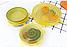 Набор многоразовых силиконовых крышек для посуды 6 штук Super Stretch SILICONE Lids ЖЕЛТЫЕ, фото 6