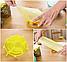 Набор многоразовых силиконовых крышек для посуды 6 штук Super Stretch SILICONE Lids ЖЕЛТЫЕ, фото 7