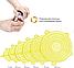 Набор многоразовых силиконовых крышек для посуды 6 штук Super Stretch SILICONE Lids ЖЕЛТЫЕ, фото 3