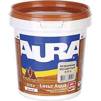 Декоративное средство Aura Lasur Aqua белое 0.75 л