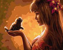 Картина по номерам Нежное создание 40*50 см Rainbow Art GX35210