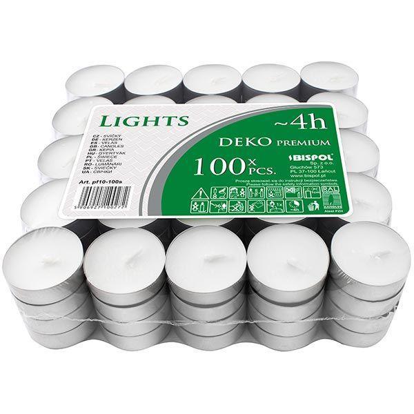 Набор свечей Bispol pf10-100 чайная 100 шт