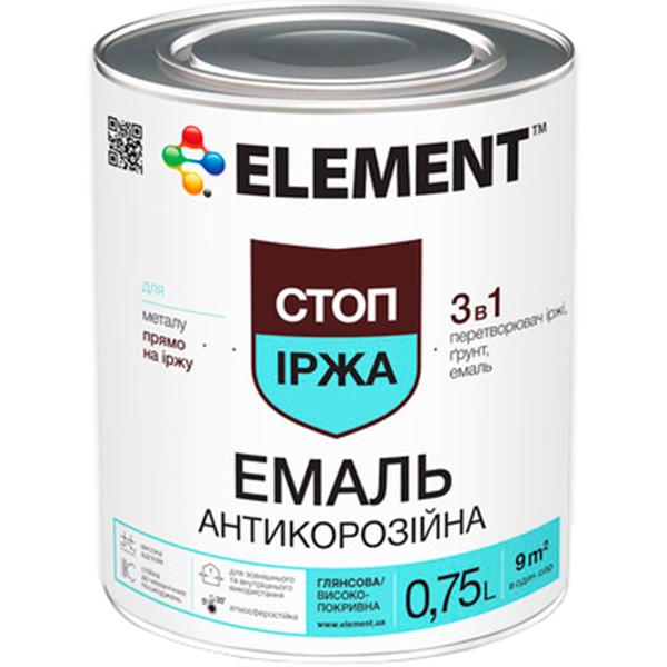 Эмаль Element 3 в 1 черная 0.75 л