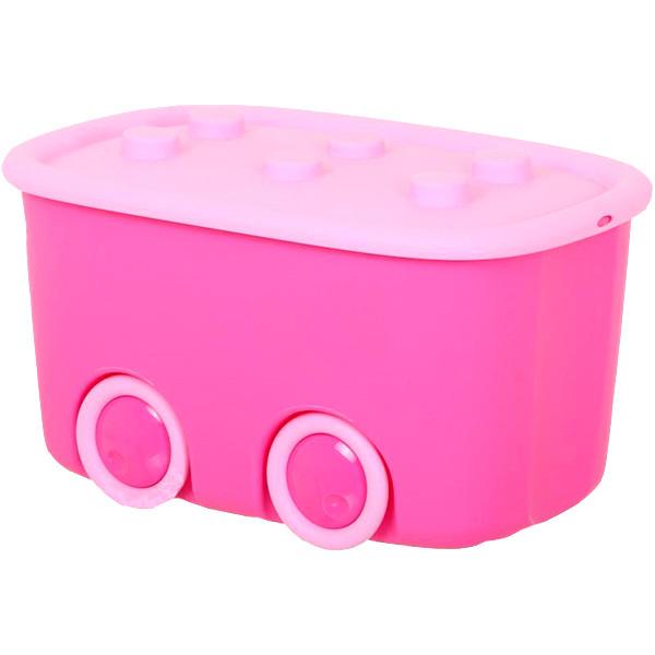 Ящик для хранения игрушек Curver Funny box 46 л розовый