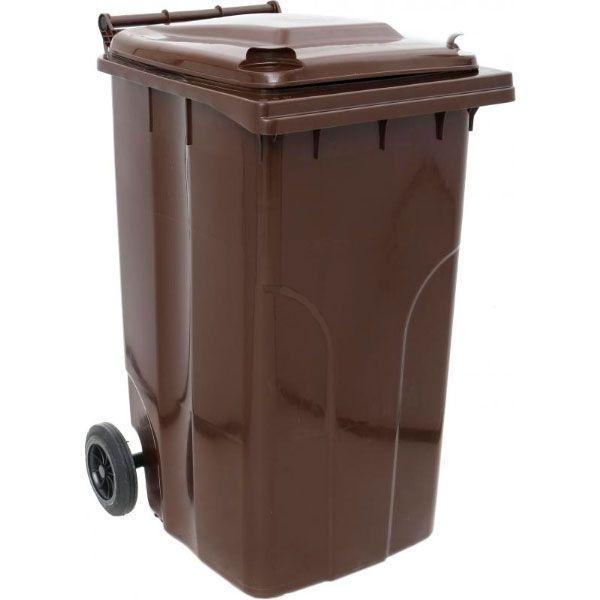 Контейнер для мусора Алеана 240 л темно-коричневый