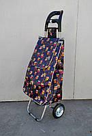 Хозяйственная сумка тележка Xiamen с железными колесами Shoping brown strawberries (0098), фото 1