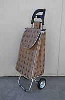 Господарська ТЕРМО сумка - візок із ЗАЛІЗНИМИ колесами і СУЦІЛЬНОМЕТАЛЕВОМУ каркасі., фото 1