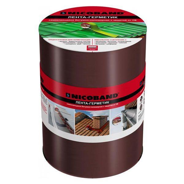 Кровельно-уплотнительная лента ТехноНиколь Nicoband 150 мм 10 м коричневый