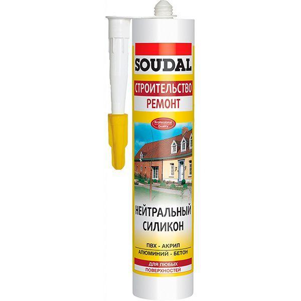Герметик Soudal силиконовый нейтральный 280 мл белый