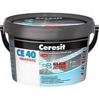 Затирка Ceresit СЕ-40 Aquastatic 102 белый мрамор 2 кг
