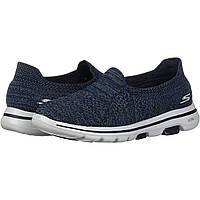 Кроссовки женские Skechers Go Walk 5 - Favored Синий оригинальные размер 42 (48810884)
