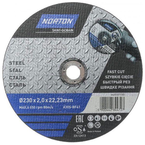 Круг отрезной Norton A30S 230x2x22.2 мм металл